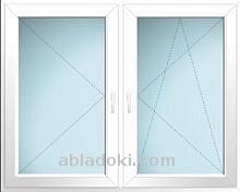 120X120-as tokosztott műanyag ablak